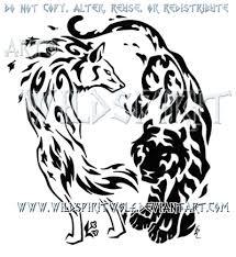 elemental wolf and tiger design by wildspiritwolf on deviantart