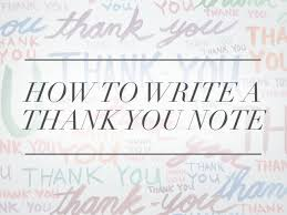 thank you card for how to write a thank you note a real one