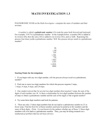 pattern with palindromic numbers palindromic sums instructions word format