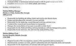 Medical Billing Resume Template Medical Billing Sample Resume Resume Templates Medical Billing