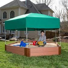 Badger Basket Covered Convertible Cedar Sandbox With Two Bench Seats Sandbox Archives Backyard Mamma