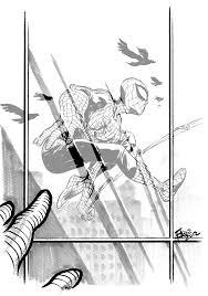 spiderman sketch 1 by elena casagrande on deviantart