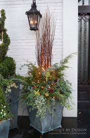 container garden winter design using greenery in containers best
