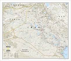 map of irak iraq classic tubed national geographic reference map