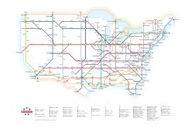 Usa Highway Map Chart Of The Day Interstate Highways As A Subway Map U2013 Mother Jones