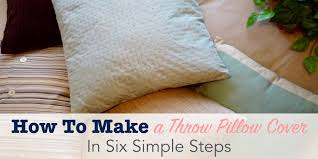 How To Make Sofa Pillow Covers How To Make A Throw Pillow Cover In Six Simple Steps Single