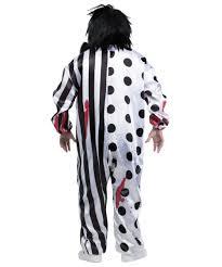 collection of halloween killer clown costumes bleeding