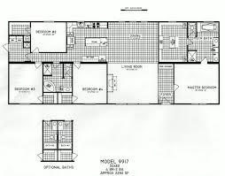 4 bedroom floor plan c 9917 hawks homes manufactured