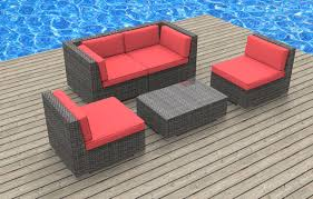 rio 5pc ultra modern wicker patio set www urbanfurnishing net