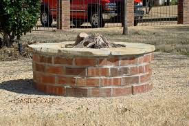 Firepit Bricks Rustic Feel With Brick Pits Garden Landscape Brick Pit