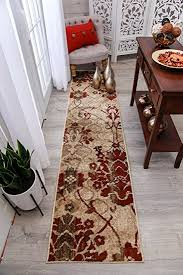 accent rugs and runners amazon com modern burgundy rug hallway runners cream beige area