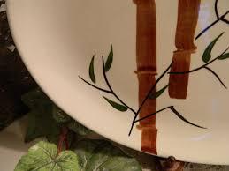 painted serving platters vintage mid century american heritage dinnerware oval serving