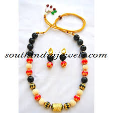 bead jewelry necklace designs images Beaded jewellery onyx and orange bead necklace south india jewels jpg