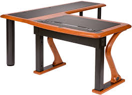 Solid Wood L Shaped Desk Artistic Computer Desk L Shaped Right Caretta Workspace