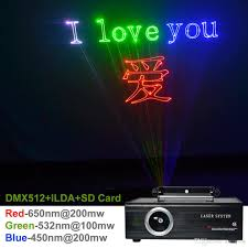 Christmas Laser Light Show Projector by New Sd Card Ilda 24ch Dmx Kaleidoscope Rgb 500mw Laser Animation