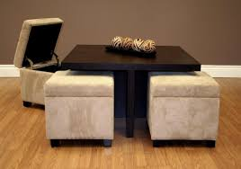 coffee table with storage ottomans underneath coffee tables