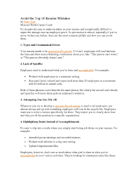 day care objectives resume top 10 resume mistakes free resume example and writing download 89 enchanting top resume examples of resumes