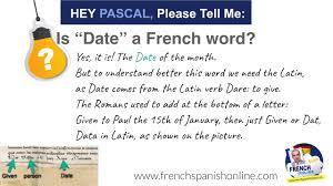 hey pascal tell me is date a word