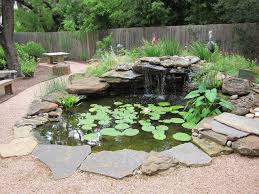 backyard with pond and flagstones maintenance tips for backyard