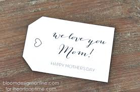 mother u0027s day gift tags i heart nap time