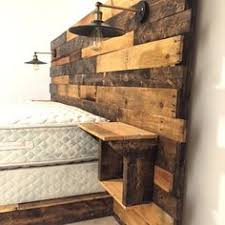 King Size Wooden Headboard Rustic Headboard Rustic Lights Headboard King Size Headboard