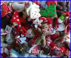 wholesale christmas decorations lot 100pcs handcrafted felt wool wood christmas decorations new