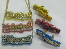3d nameplate necklace name plate jewelry sets gallery of jewelry