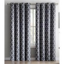 Lattice Design Curtains Hlc Me Lattice Print Blackout Grommet Curtain Panel Pair Free