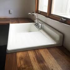 vintage cast iron sink drainboard 42 cast iron wall hung kitchen sink with drainboard cast iron