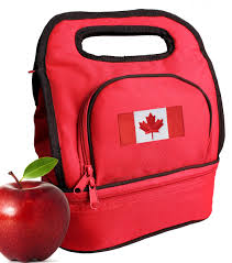 Candaian Flag Canada Flag Lunch Bag Lunchbox Canadian Flag Cooler Bags 2