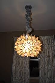 Faux Capiz Chandelier Carri Us Home Fixing A Broken Capiz Light
