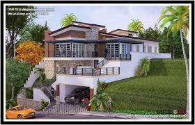 modern hillside house plans viewse plan vacation render sloping lot plans sydney brisbane au