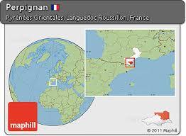 map of perpignan region free savanna style location map of perpignan highlighted