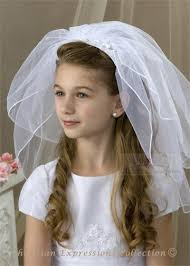 1st communion veils communion headband veils with flowers 1st holy communion