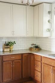 walnut base cabinets and white upper cabinets google search