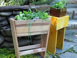 Wooden Patio Plant Stands by Plant Stand Herb Garden Plant Standsherb Planter Stand Standing