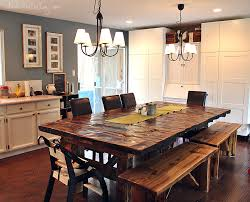 make a dining room table from reclaimed wood homemade reclaimed wood dining table benches simple purpose pics