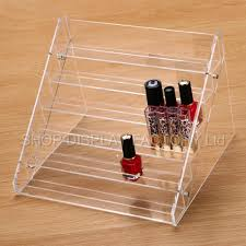 clear acrylic tattoo ink nail polish display stand rack organiser