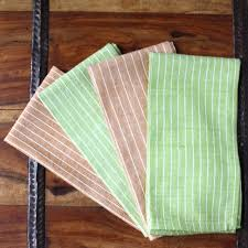 Crate And Barrel Napkins Green Caramel 16 Inch Cotton Napkin Set Of 4 Sustainable Threads