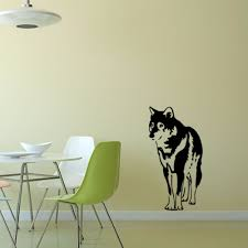online buy wholesale wall sticker dogs huskies from china pet dog husky vinyl wall decal animal home decor living room bedroom wallpaper removable stickers