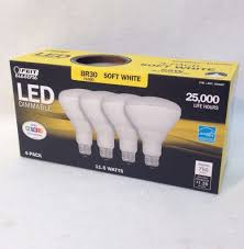 16 feit electric 65 watt replacement led light bulb dimmable br30