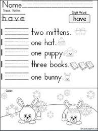 january kindergarten worksheets cut and paste kindergarten