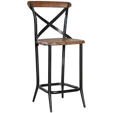 old elm metal cross back stool a cottage in the city