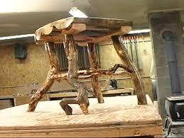 Log Side Table Make A Rustic Log Side Table Hgtv