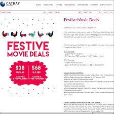 cathay cineplexes 3x open movie 2x 5 f u0026b vouchers for 38 u p