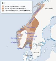 Map Of Norway Map Of Norway In 1000 Ad After The Battle Of Svolder 2000 X