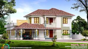 beautiful 4 bedroom sloping roof home 2750 square feet kerala