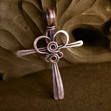 wire jewelry necklace images Copper cross pendant wire wrapped necklace cross my heart jpg