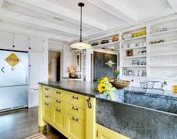 yellow kitchen cabinet mountain modern life 10 stunning kitchen designs with two toned