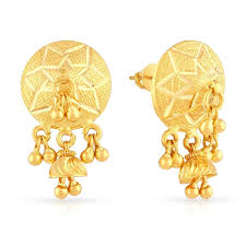 gold ear ring image flying malabar gold earring jewellery store